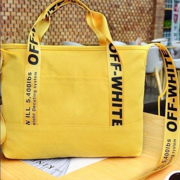 Off - White tote  24 hr bag